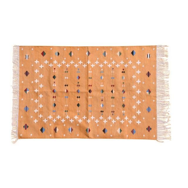 Boho Chic Dandelion Rug, 9x12, Mustard & White For Sale - Image 3 of 3
