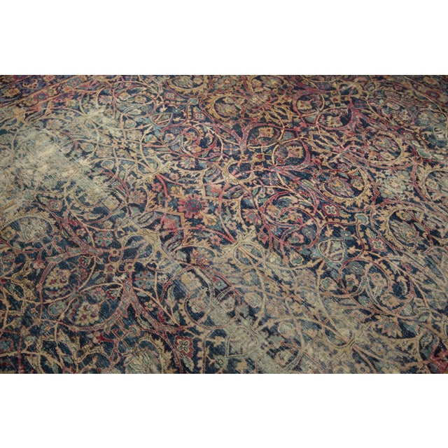 "Vintage Yezd Carpet - 9'2"" X 11'9"" For Sale - Image 11 of 13"