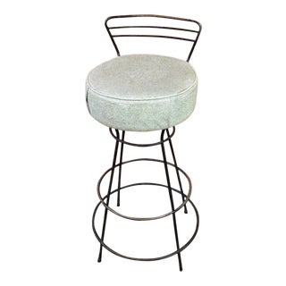Mid-Century Modern Wrought Iron Stool For Sale