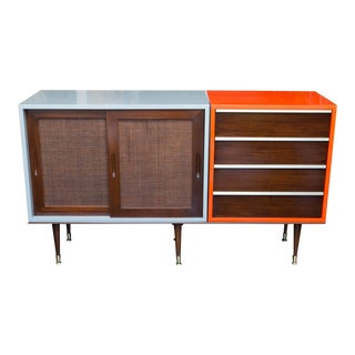 Lacquered Midcentury Three-Piece Server/Sideboard Set
