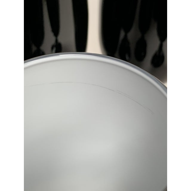1960s Carlo Moretti Black and White Cased Glass Goblets - Set of 10 For Sale - Image 10 of 12