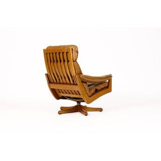 1960s Danish Modern Lied Mobler Teak Reclining Swivel Lounge Chair Preview