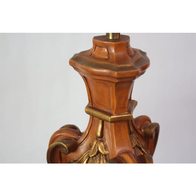 Hollywood Regency Pair of Oversized Hollywood Regency Carved and Gilded Table Lamps by Marbro For Sale - Image 3 of 13