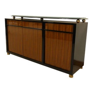 Modern Italian Lacquered Wooden Credenza For Sale