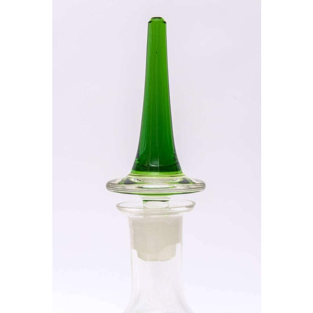 Italian Murano Glass Teardrop Abstract Decanter with Exaggerated Stopper - Image 8 of 10