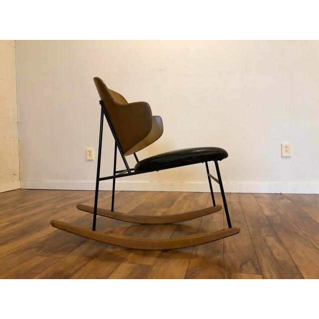 Mid-Century Modern Vintage Kofod Larsen Penguin Rocking Chair For Sale - Image 3 of 12