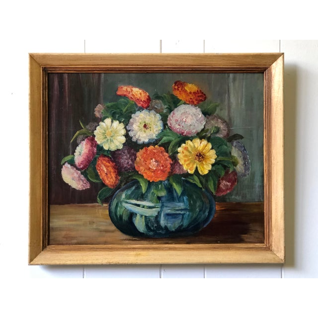 Bright and Cheerful 1940s Floral Still Life For Sale - Image 13 of 13