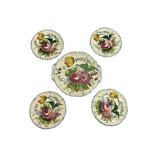 Cottage Italian Cake & Dessert Plates- Set of 5 For Sale - Image 3 of 9