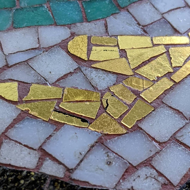 Artisan Midcentury Modern Mosaic Table For Sale - Image 9 of 13