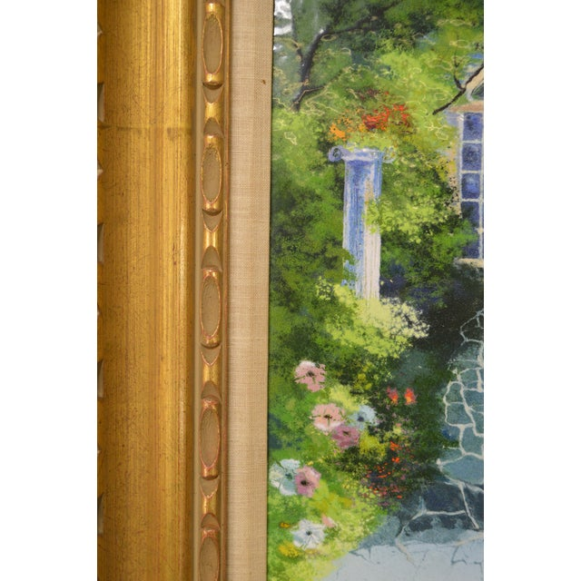 Parthesius Enamel on Copper Southern Belle Framed Painting For Sale - Image 10 of 11