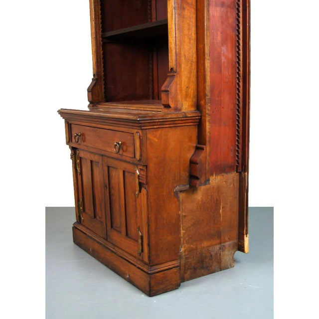 Gothic 19th Century Victorian Renaissance Revival Bookcase Cabinet For Sale - Image 3 of 6
