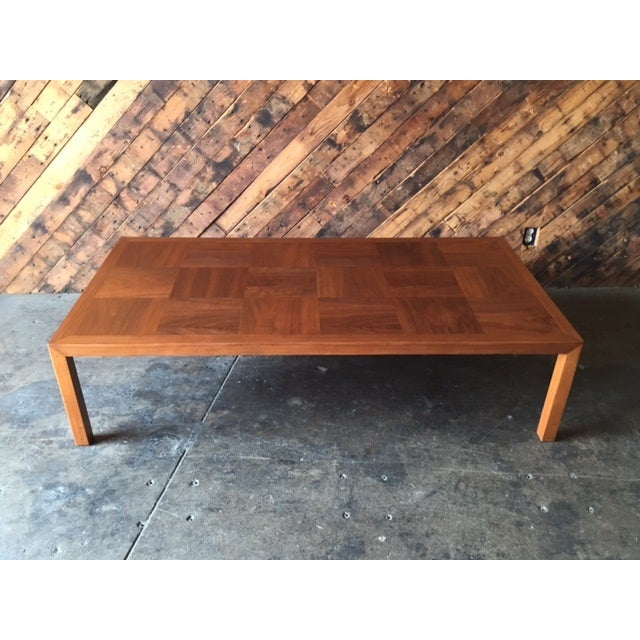 Mid-Century Refinished Parsons Style Coffee Table - Image 7 of 7