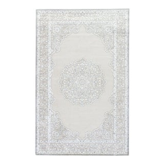 "Jaipur Living Malo Medallion Gray & White Area Rug - 9'6""x13'6"" For Sale"