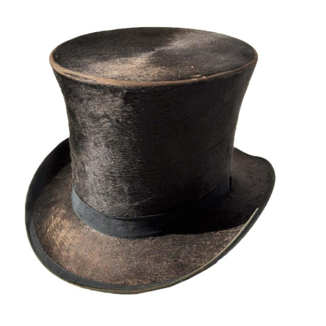 G W  Campbell Top Hat w/ Stetson Hat Box