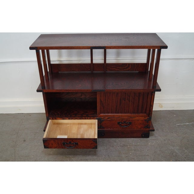 Chinese Arts & Crafts Red Elm Wood Narrow Console For Sale In Philadelphia - Image 6 of 10