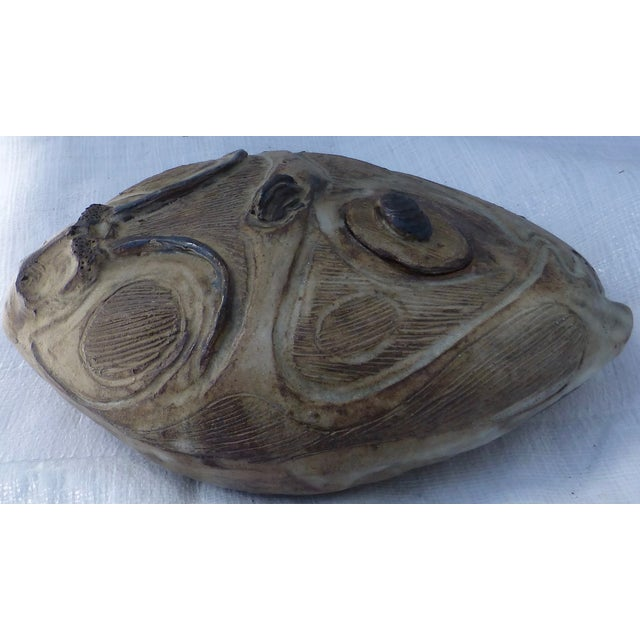 Mid Century Studio Pottery Rams Head Oil Jar - Image 6 of 11