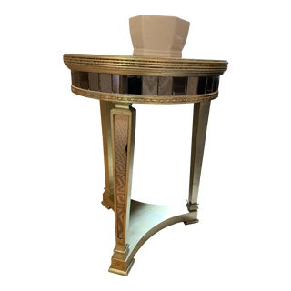 Contemporary Horchow Amelie Mirrored Side Lamp Table For Sale
