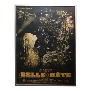 The Beauty & the Beast-Original 1946 French Movie Poster-Jean Cocteau