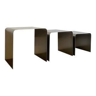 Modern Chrome Nesting Tables For Sale