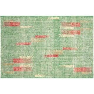 """Nalbandian - 1960s Turkish Zeki Muren Art Deco Carpet - 6'10"""" X 10'1"""" For Sale"""