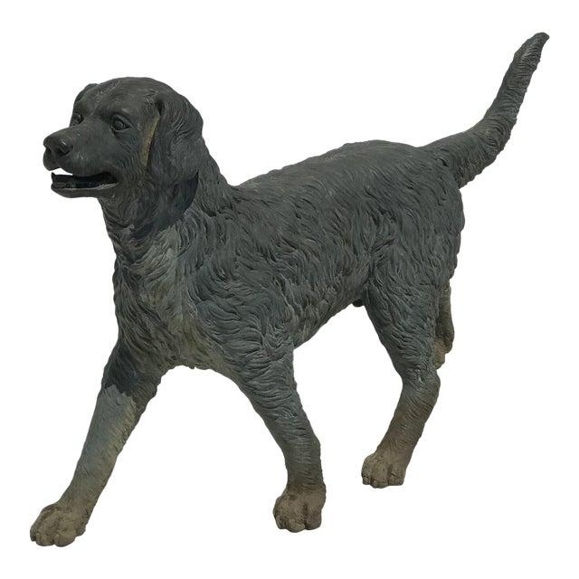 Vintage Bronze Dog Retriever For Sale