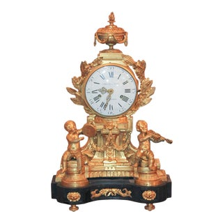 Fine 19th Century Parisian Bronze Clock For Sale