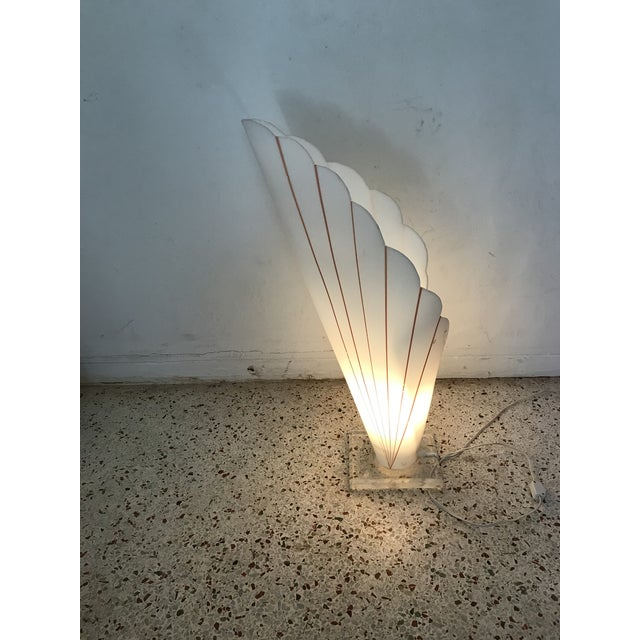 1980s Lucite Table Lamp Styled After Rougher For Sale - Image 5 of 11