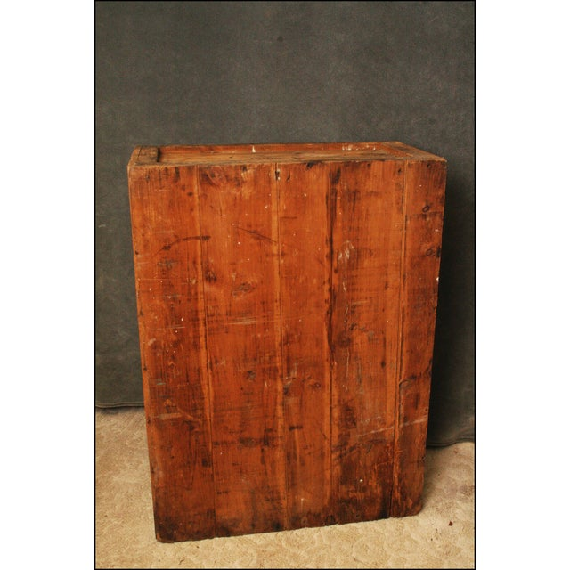 Vintage Industrial Wood Bookcase made from Underwood Typewriter Crates For Sale - Image 5 of 11