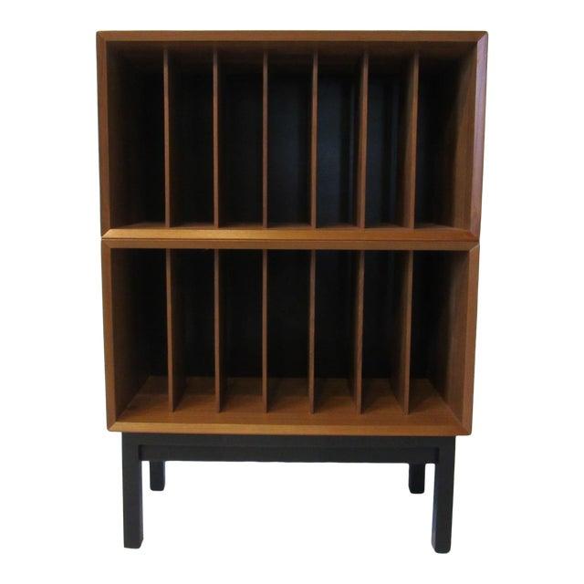 Danish Cado Teak Record Cabinet For Sale