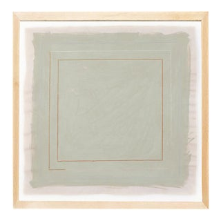 Contemporary Postmodern Style Sage Green Print by Emily Keating Snyder, Framed For Sale