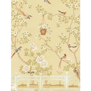 Casa Cosima Yellow Indra Diptych Wallpaper Mural - Sample For Sale