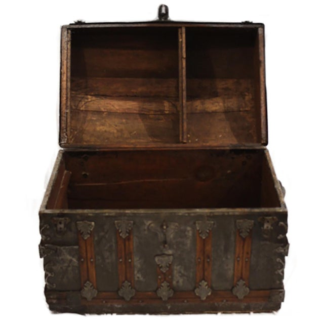 Late 19th-C. Tin Embossed Steamer Trunk - Image 7 of 10