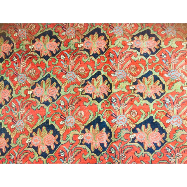 "1920s 1920's Persian Bijar Rug-9'1'x12"" For Sale - Image 5 of 10"