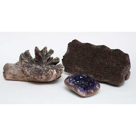 Amethyst Crystal & Wood Pieces - Set of 3 - Image 4 of 11
