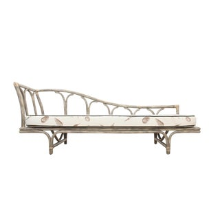 1980s Vintage Coastal Bentwood Chaise For Sale