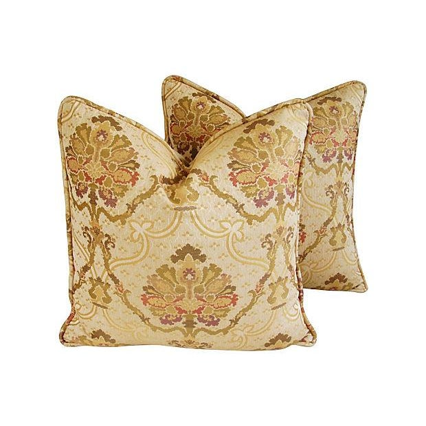Custom Italian Old World Tapestry Pillows - A Pair - Image 1 of 7