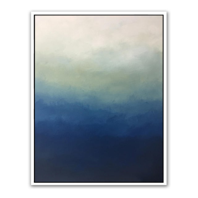 "Blue ""Abstract Blue Ombré"" - Framed Print 30x40 For Sale - Image 8 of 8"