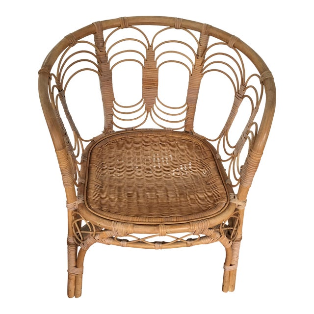 Vintage Rattan Chair - Image 1 of 10