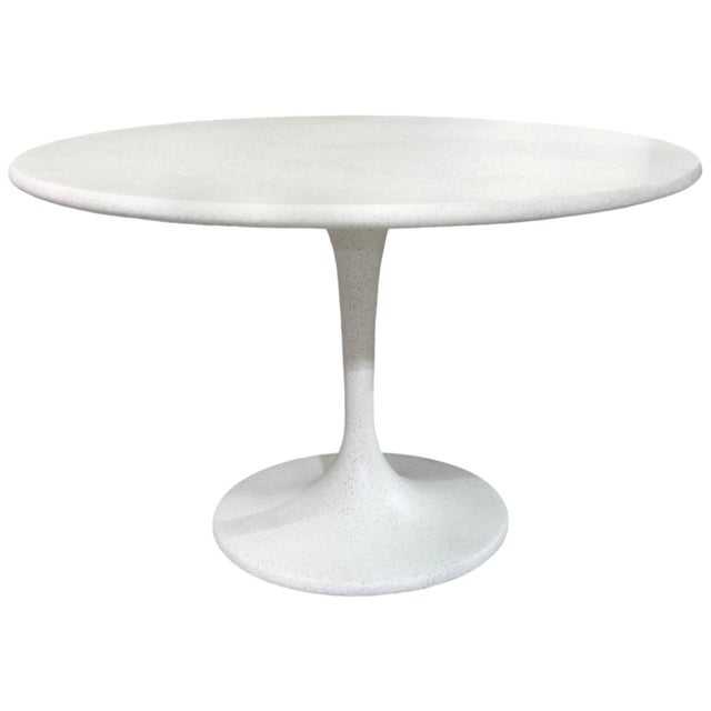 Not Yet Made - Made To Order Cast Resin 'Spindle' Dining Table, White Stone Finish by Zachary A. Design For Sale - Image 5 of 5