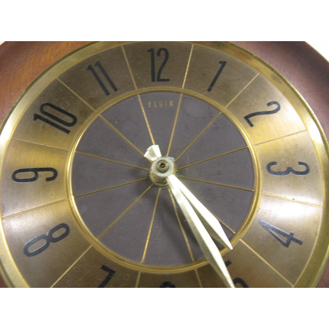 1960s 1960s Mid Century Modern Elgin Wall Clock For Sale - Image 5 of 11