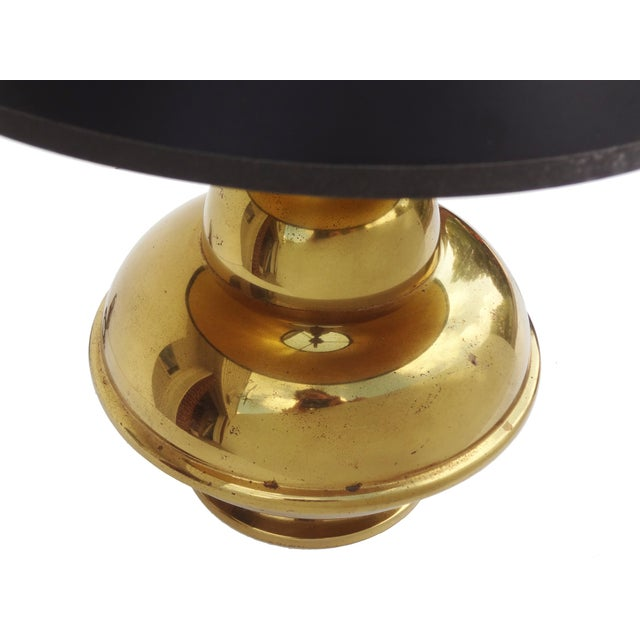 Petite Brass Chinoiserie Lamp For Sale - Image 4 of 8