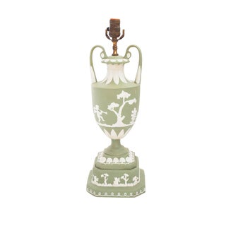Wedgwood-Style Green Table Lamp