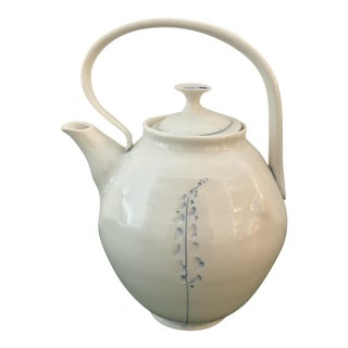 Handmade Israeli Porcelain Tea Pot by Udi Charka For Sale