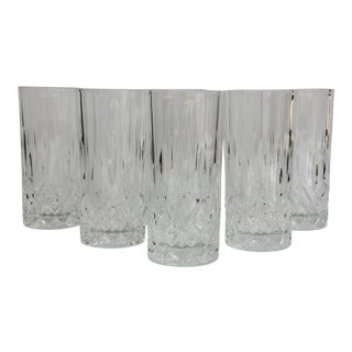 American Classical Crystal Highball Glasses - Set of 6 For Sale
