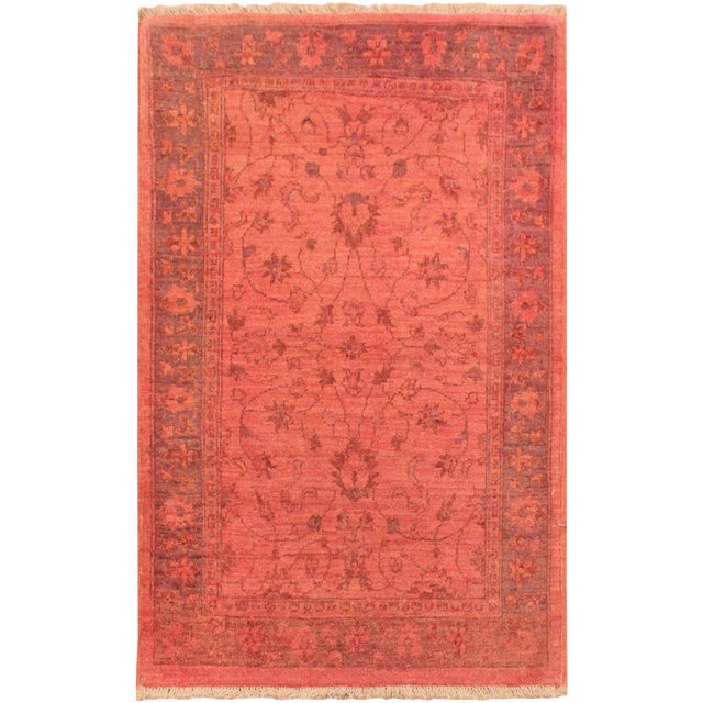 Overdyed Color Reform Cris Pink/Blue Area Rug - 2'10 X 4'0 - Image 1 of 8
