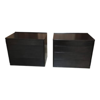 Edward Wormley for Dunbar Ebonized Chests - a Pair