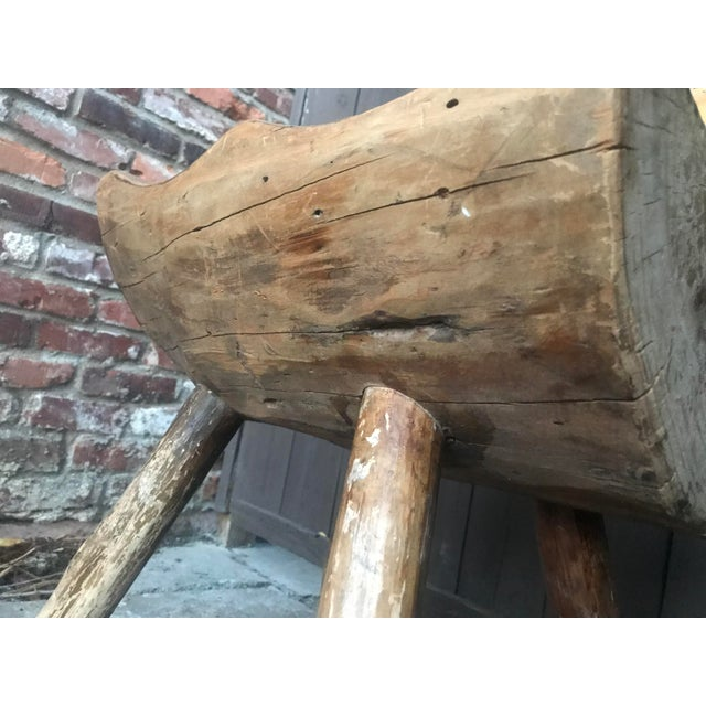 1800's Vintage Rustic Handmade Log Chair For Sale - Image 9 of 10