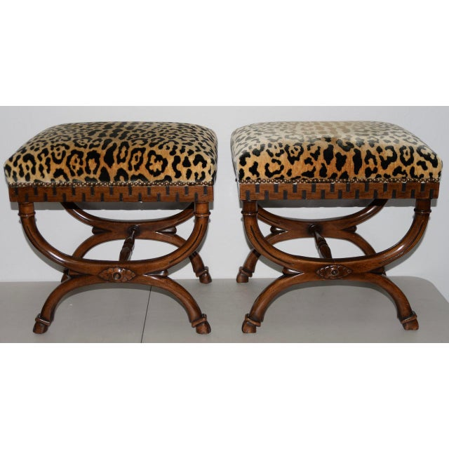 Pair of William Switzer Carved Curule Benches For Sale In San Francisco - Image 6 of 6