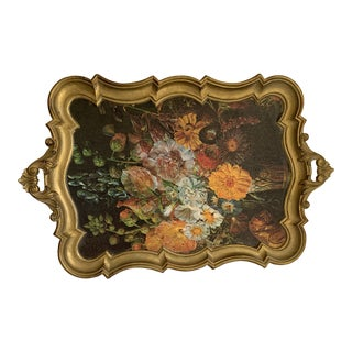 Gilded Florentine Decor or Serving Tray For Sale