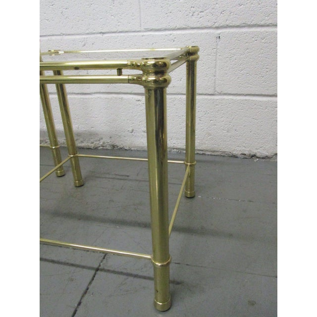 Brass Nesting Tables Attributed to Maison Raphael For Sale - Image 4 of 5